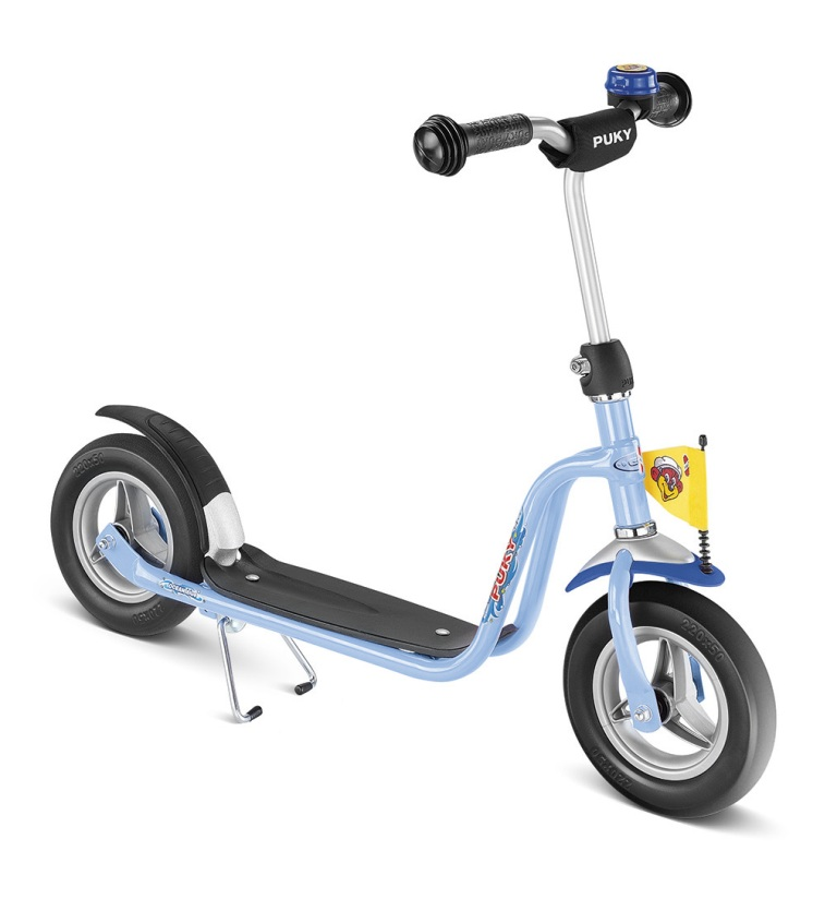 PUKY R 03 BLUE, koloběžka modrá - ZDARMA dopravné a reflexní vesta (barva modrá - dle vyobrazení, scooter)