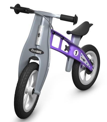 Odrážedlo FIRST Bike STREET violet - ZDARMA dopravné, košík a zvonek (NOVINKA! - varianta s ruční brzdou, barva violet)