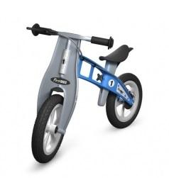 Odrážedlo FIRST Bike STREET light blue - ZDARMA dopravné, košík a zvonek