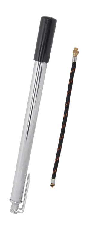 Hustilka kovová s patkou, chromová s MOTO hadičkou