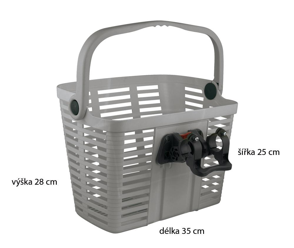 Košík KLICK FIX, stříbrný