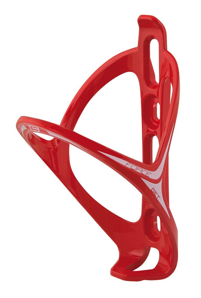 Košík /držák láhve FORCE GET plastový, červený lesklý