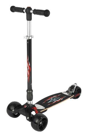Kickboard Micro Monster Interchangeable black - ZDARMA dopravné a helma Micro (barva černá - dle vyobrazení)