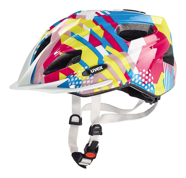 Cyklistická přilba UVEX QUATRO JUNIOR, 2016 CANDY (pro obvod hlavy 50-55 cm, model 2016)