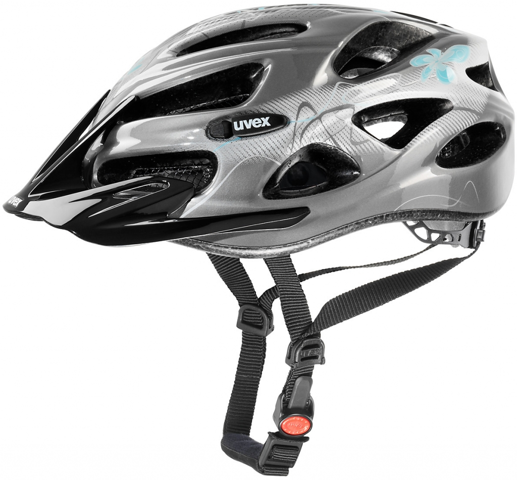 Cyklistická přilba UVEX ONYX LADY LINE, 2017 dark silver-light blue