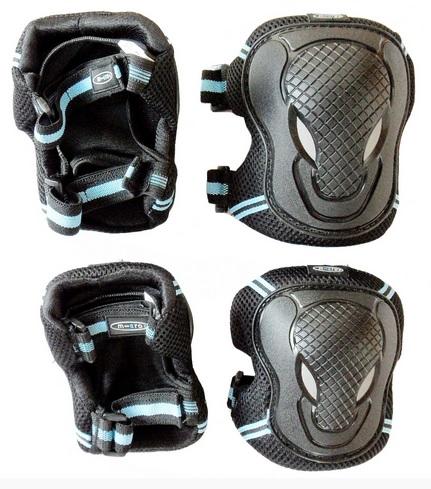 Chrániče kolen a loktů Micro - vel. M, černo-modré (chrániče kolen a loktů MICRO)