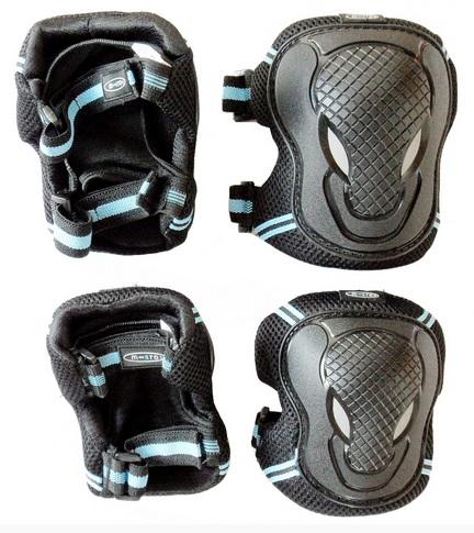 Chrániče kolen a loktů Micro - vel. S, černo-modré (chrániče kolen a loktů MICRO)