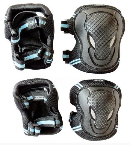 Chrániče kolen a loktů Micro - vel. XS, černo-modré (chrániče kolen a loktů MICRO)
