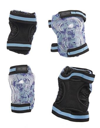 Chrániče kolen a loktů Micro - vel. XS, modro-černé (chrániče kolen a loktů MICRO)