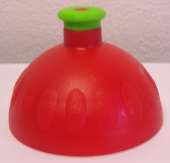 Náhradní víčko komplet Zdravá lahev - červeno-zelené (Náhradní víčko pro Zdravou lahev, barva červená-zelená zátka)