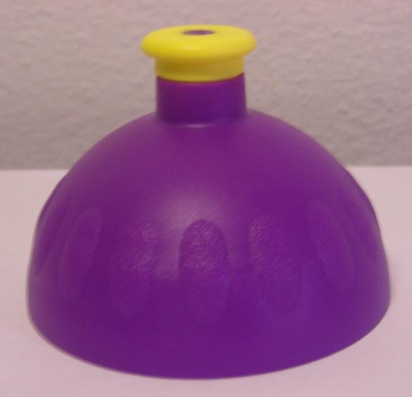 Náhradní víčko komplet Zdravá lahev - fialovo-žluté (Náhradní víčko pro Zdravou lahev, barva fialová-žlutá zátka)
