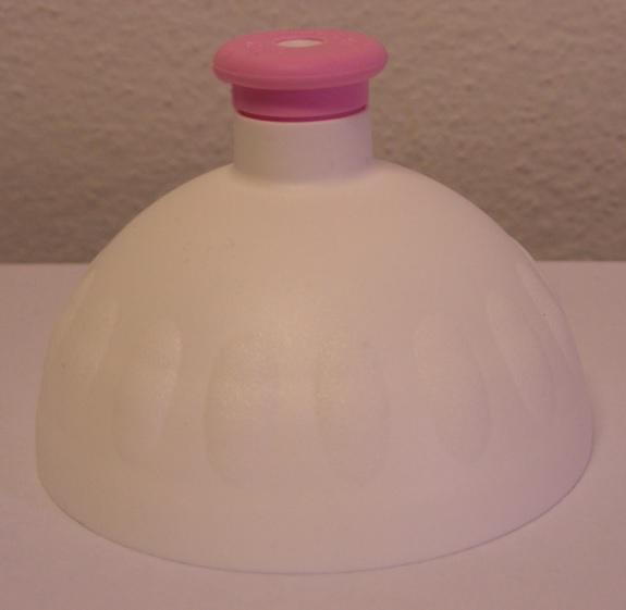 Náhradní víčko komplet Zdravá lahev - bílo-růžové (Náhradní víčko pro Zdravou lahev, barva bílá-růžová zátka)