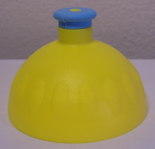 Náhradní víčko komplet Zdravá lahev - žluto-modré (Náhradní víčko pro Zdravou lahev, barva žlutá-modrá zátka)