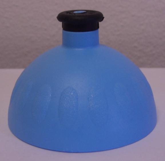 Náhradní víčko komplet Zdravá lahev - modro-černé (Náhradní víčko pro Zdravou lahev, barva modrá-černá zátka)