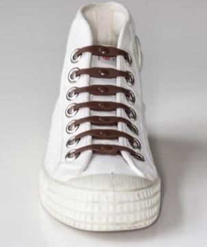Silikonové tkaničky SHOEPS - brown