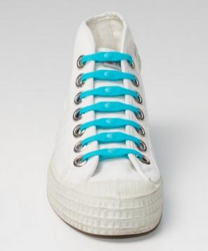 Silikonové tkaničky SHOEPS - indigo
