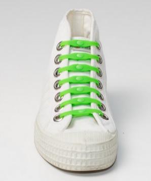 Shoeps - silikonové tkaničky - green (originální tkaničky, které se nešněrují, barva zelená)