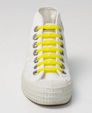 Silikonové tkaničky SHOEPS - yellow