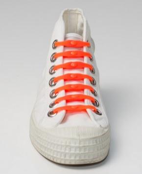Shoeps - silikonové tkaničky - orange (originální tkaničky, které se nešněrují, barva oranžová)
