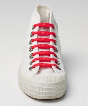 Silikonové tkaničky SHOEPS - red