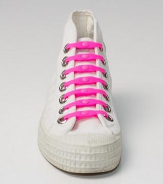 Silikonové tkaničky SHOEPS - pink