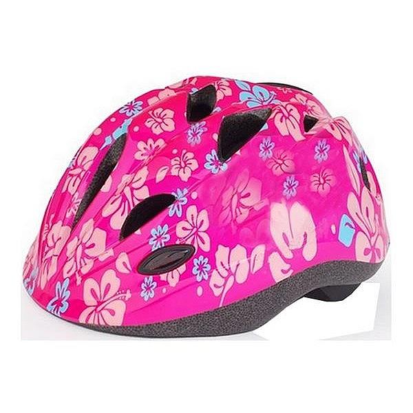 Cyklistická přilba NEXELO FUNNY růžová květy
