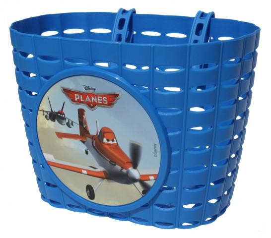 Přední plastový košík Planes - Letadla, modrý (dětský košík na řidítka, plastový)