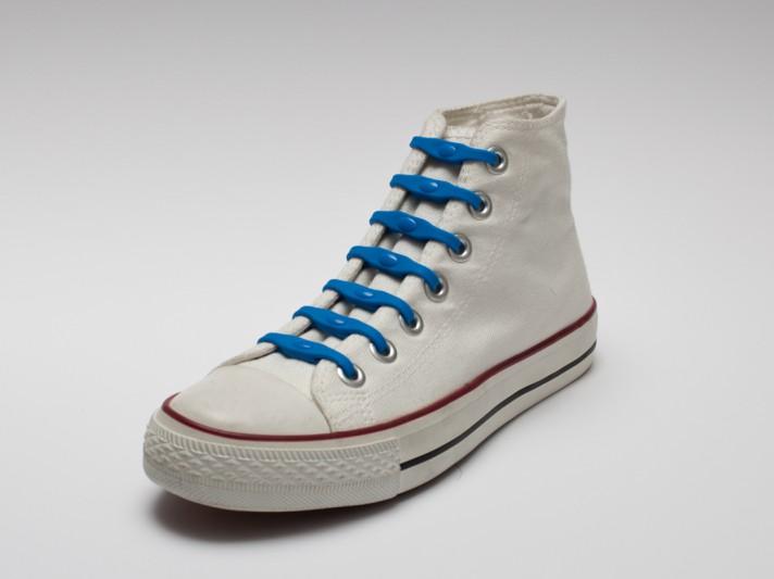 Shoeps - silikonové tkaničky - sky blue