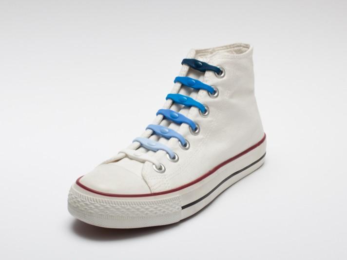 Shoeps - silikonové tkaničky - mix blue
