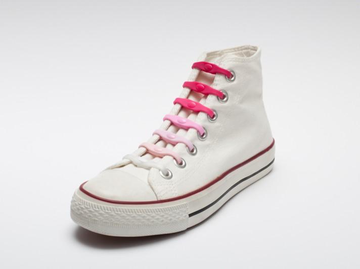 Shoeps - silikonové tkaničky - mix pink