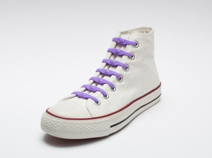 Shoeps - silikonové tkaničky - purple