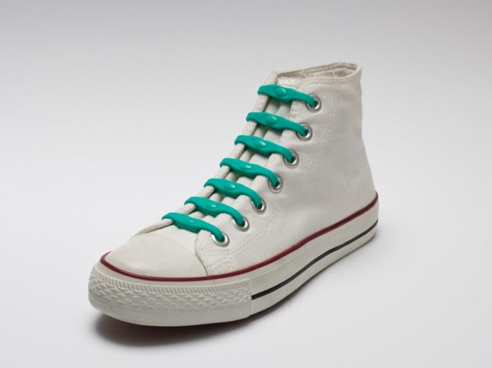 Shoeps - silikonové tkaničky - sea green