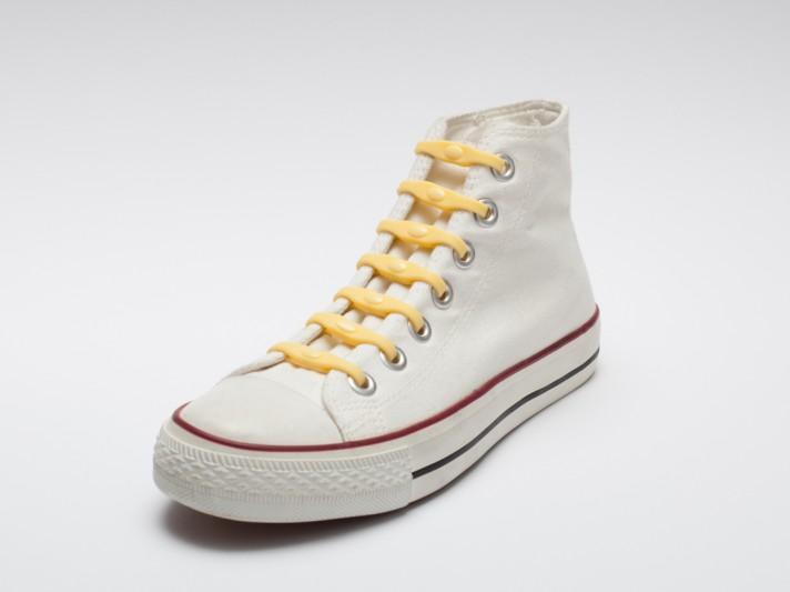 Shoeps - silikonové tkaničky - yellow sunny