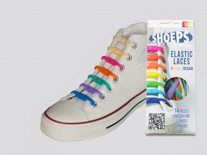 Shoeps - silikonové tkaničky - mix 2015