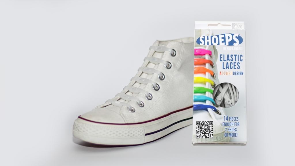 Shoeps - silikonové tkaničky - pearl