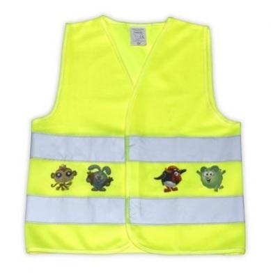 Dětská reflexní vesta - dětská 3-6 let, barva žlutá reflexní (pro děti 3-6 let)