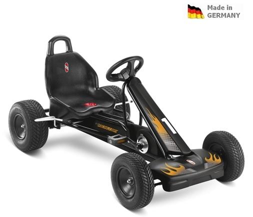 Dětská šlapací kára Puky Go Cart Air F 1L černá - ZDARMA dopravné (od 6 let a cca 115 cm, barva černá)