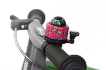 Zvonek kompas růžový First Bike (originál zvonek FirstBIKE s funkčním kompasem)