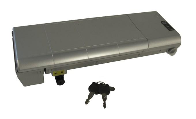 BATERIE LFE pro elektrokolo 36V/10,4Ah, stříbrná, Samsung (Náhradní baterie pro modely LOTUS, E-FERRARA, SANDY, E-CODY, E-URBY)