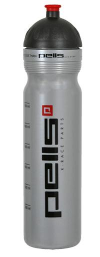Cyklistická lahev X-RACE stříbrná, objem 1l