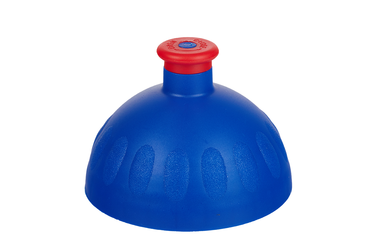 Náhradní víčko komplet Zdravá lahev - tmavě modro-červené (Náhradní víčko pro Zdravou lahev, barva tm.modrá-červená zátka)