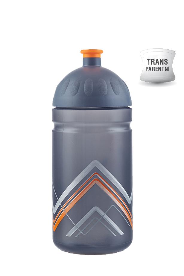 Zdravá lahev BIKE Hory oranžová 500ml