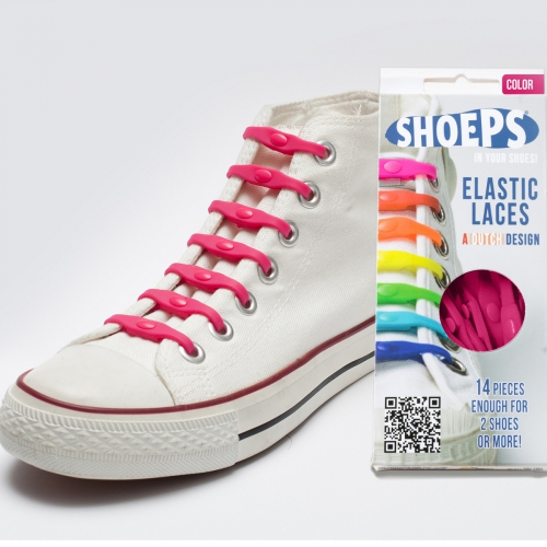 Shoeps - silikonové tkaničky - fuchsia pink