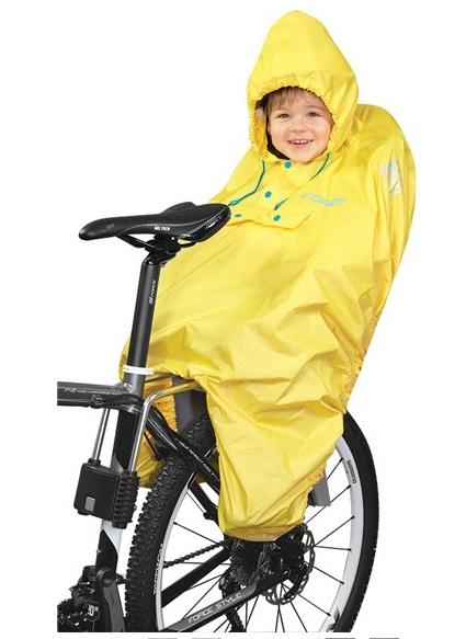 Poncho - pláštěnka Force - pro zadní cyklosedačky, žlutá (barva žlutá - dle vyobrazení)