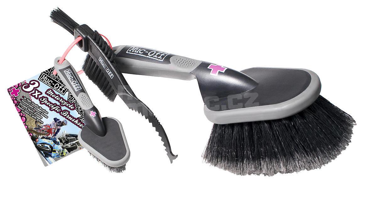 Muc-Off 3x Brush Set (Sada kartáčů na čištění jízdních kol)