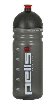Cyklistická lahev Pells X-RACE 0.7l šedá transparentní (výsuvný vršek )