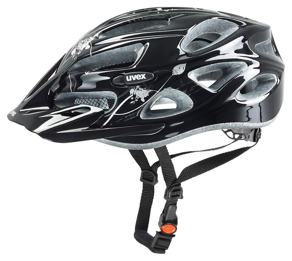 Cyklistická přilba UVEX ONYX lady, 2016 black-silver (pro obvod hlavy 52-57 cm, model 2016)