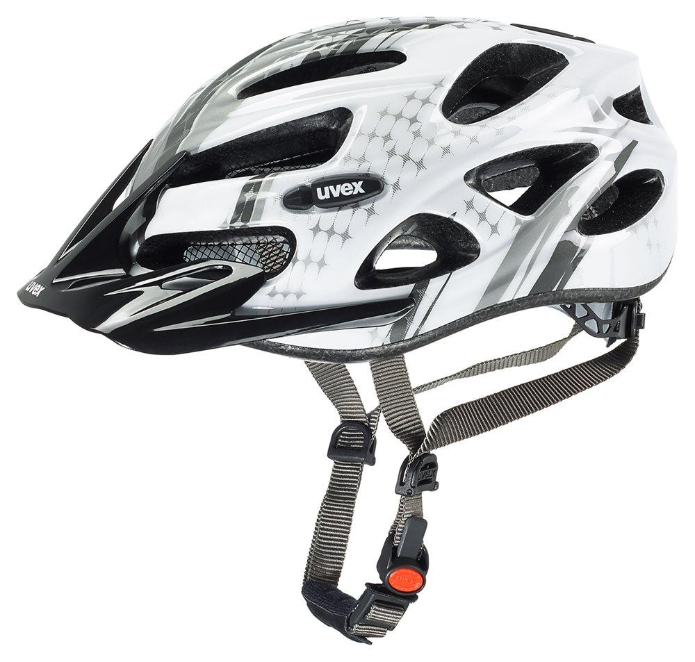 Cyklistická přilba UVEX ONYX lady, 2016 white-silver (pro obvod hlavy 52-57 cm, model 2016)