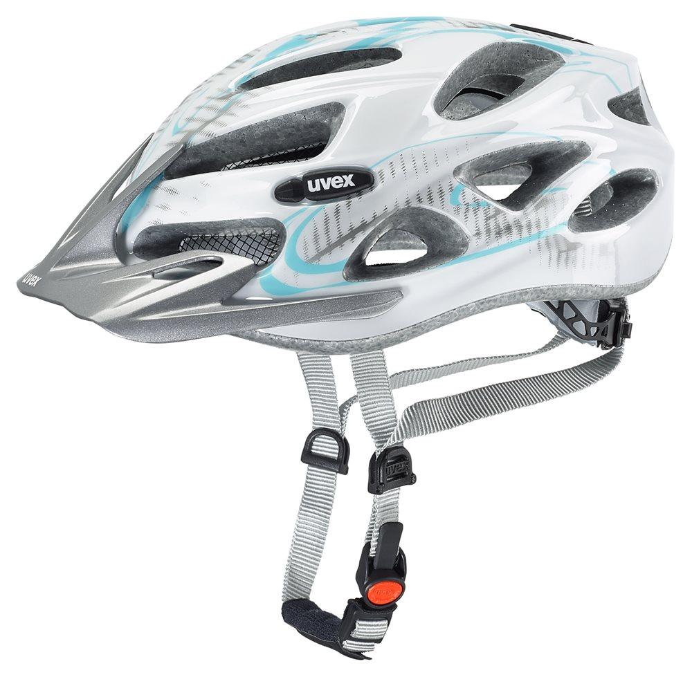 Cyklistická přilba UVEX ONYX lady line, 2016 white-light blue (pro obvod hlavy 52-57 cm, model 2016)