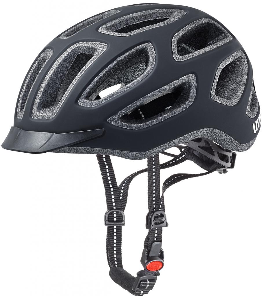 Cyklistická přilba UVEX CITY E, 2017 BLACK MAT (pro obvod hlavy 57-61 cm, model 2017)